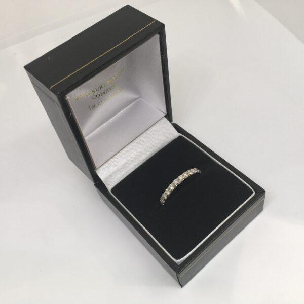 9 carat yellow gold diamond band/eternity ring