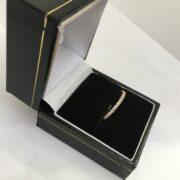 Preowned 18 carat rose gold Vera Wang diamond band/ eternity ring
