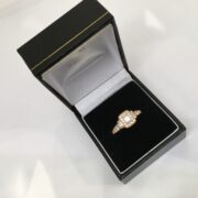 Preowned 18 carat rose gold Vera Wang diamond ring