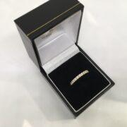 18 carat yellow gold diamond band/ eternity ring