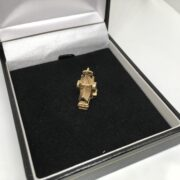 Preowned 9 carat yellow gold church charm