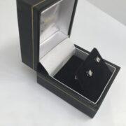 9 carat white gold diamond set stud earrings