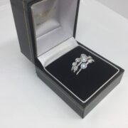 Platinum and diamond scatter ring