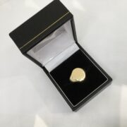 Preowned 18 carat yellow gold signet ring