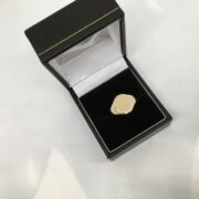 Preowned 9 carat yellow gold signet ring