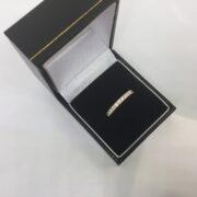 18 carat yellow gold diamond band/eternity ring