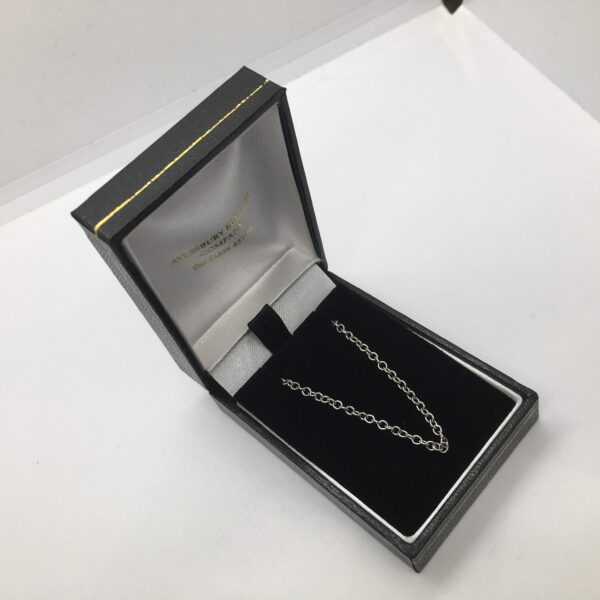 18 carat white gold trace chain