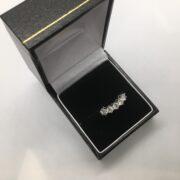 Preowned 18 carat yellow gold 5 stone diamond ring