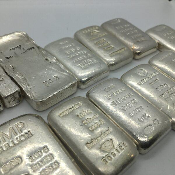 Fine silver bars