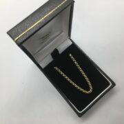 9 carat yellow gold round belchar chain