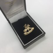 Preowned 9 carat yellow gold horse and jockey charm