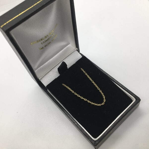 18 carat yellow gold trace chain