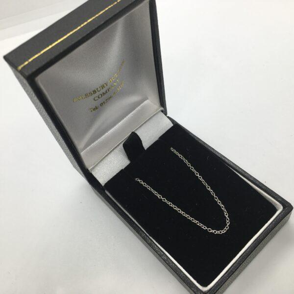 9 carat white gold trace chain