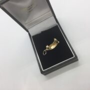 Preowned 9 carat yellow gold boat charm